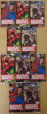 Marvel ~ Panini Trading Card Collection 2017 ~ 10 x Sealed Packs = 80 Cards
