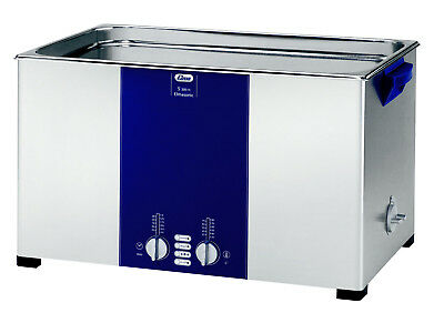 "ELMA S300H 7. Gal. Heated Ultrasonic Cleaner, 37kHz, 19.9 x 11.8 x 7.9"", 1007158"