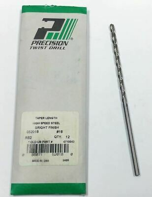#18 HSS Taper Length Drill (Pack of 12) Precision Twist 52018