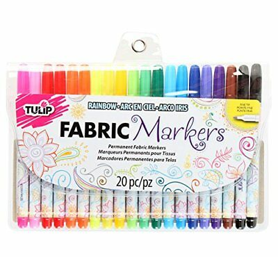 I Love To Create 28976 Tulip Writer Fabric Marker Set, Multi-Colour, Pack of 20