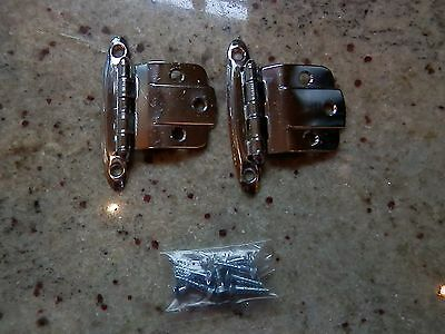 Chrome Scalloped Vintage Hinge Art Deco, Steel, Chrome Plated