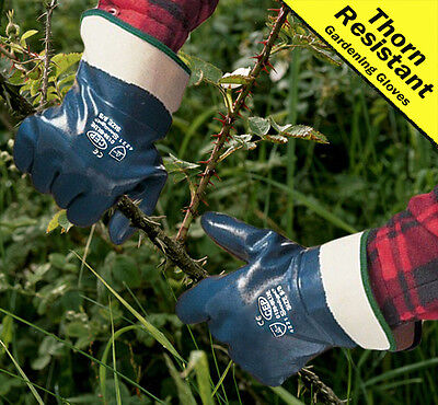 6 Pairs of Thorn Resistant Multi Purpose Gardening Gloves with Safe Cuff size 8