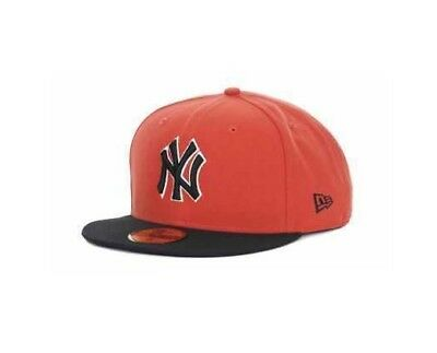 5bdf56fbf0e New York Yankees New Era 59Fifty Official Fitted MLB Hat Cap Size 7 orange  NEW