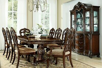Stately Formal Rectangular Dining Table & Chairs Dining Room Furniture Set
