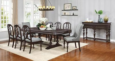 Stunning Black Louis Philippe Dining Table 8 Chairs
