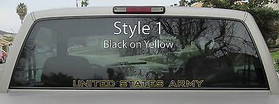 US Army Window Sticker Vinyl Decal Engineer Corps - Var. Sizes and Colors