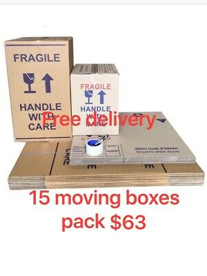 20 X100L Moving Boxes + Packing Materials Cardboard Removalist Package Deal