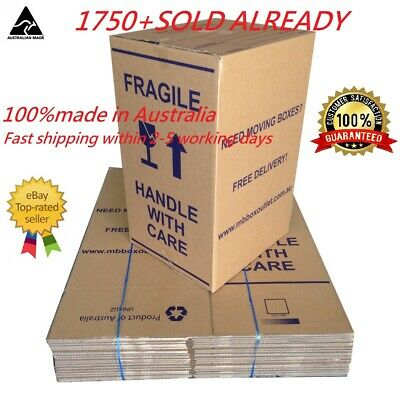 20X Large100L Moving Boxes + Packing Materials Cardboard Removalist Package