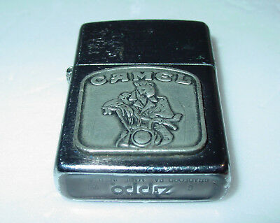 Vintage ZIPPO Smokin' Joe Camel Motorcycle Rider Lighter, 1990s - USED