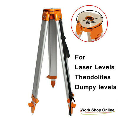 1.73M Flat Aluminum Tripod + 4M Laser Level Staff Kit 4 Dumpy Level Rotary Level