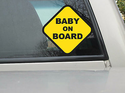 Baby on Board Sticker - Vinyl Decal - Various Sizes & Colors