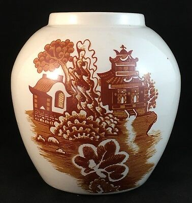 Royal Cauldron Bristol Ironstone Willow Vase Made Specially For R Twining (Tea)