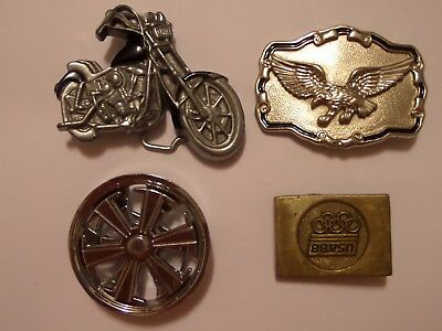 Belt Buckle Lot Eagle, Usa 1988 Olympics, Spinner Wheel, Motorcycle