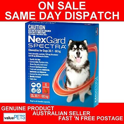 NexGard Spectra Chewables For Extra Large Dogs Red 30.1-60kg 6 Pack