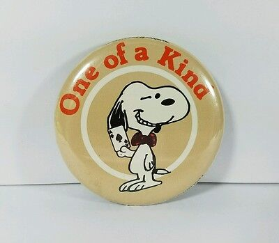 Snoopy Peanuts Pinback Button One Of A Kind Ace Of Spades Gambler Vintage 1970s