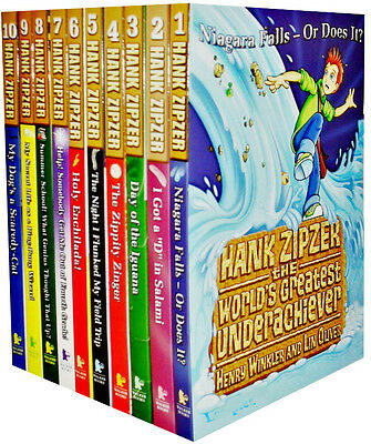 Hank Zipzer Collection 10 Books Set Henry Winkler Pack Dyslexia The Fonz Fonzie