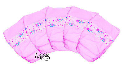 Baby Born Nappies Zapf Creations 5 Pack Nappy Diapers  *  Brand New  *