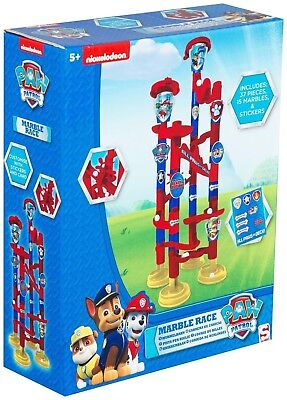Nickelodeon Paw Patrol Boys Marble Run Activity Game Toy 37 Pieces