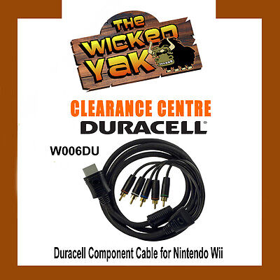 Duracell Gold Plated High Quality Component Cable for Wii 2 Metre W006DU-NEW!