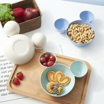 Cute Mouse Shape Feeding Rice Plate Bowl Fruit Snack Dish Tableware For Kid Baby