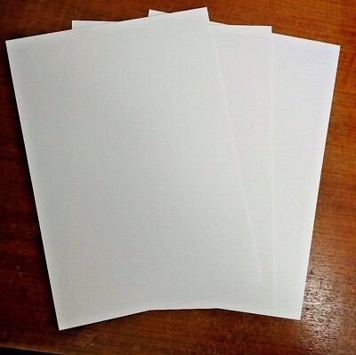 Plasticard High Impact Polystyrene 0.5mm 20 thou Sheet A4 Matt White Craft Model