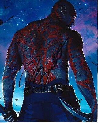 ACTOR DAVE BAUTISTA SIGNED GUARADIANS OF THE GALAXY VOL 2 8x10 PHOTO 3 COA DRAX