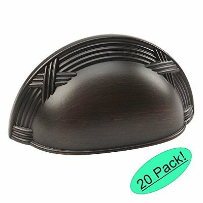 Cosmas 9461ORB Oil Rubbed Bronze Cabinet Hardware Bin Cup Drawer Handle Pull New