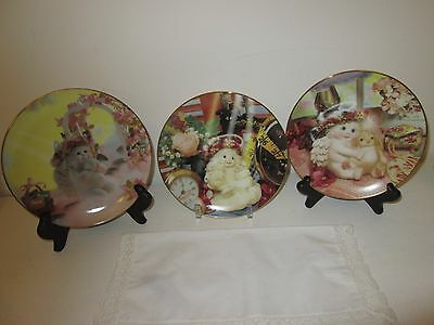 """Three (3) Dreamsicles Plates Size 6.5"""" Collectibles"""
