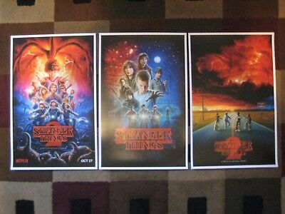 """Stranger Things (11"""" x 17"""")  Movie Collector's Poster Prints  ( Set of 3 )"""