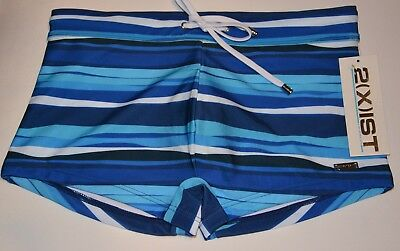 9043f8ad44 Mens Swimwear 2(X)IST Signature Fit Trunks Estate Blue Awning Stripe Size M