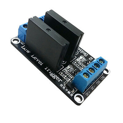Solid State Relay Module Low Level Trigger AC 240V 2A 2 Channel 24V