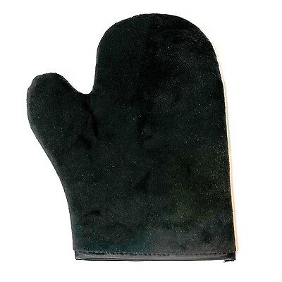 Tanning Mitt Glove with Thumb - Soft Velvet, Double Sided and Lined