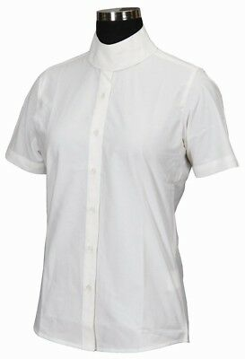 (4, White) - TuffRider Girl's Starter Short Sleeve Show Shirt. Brand New
