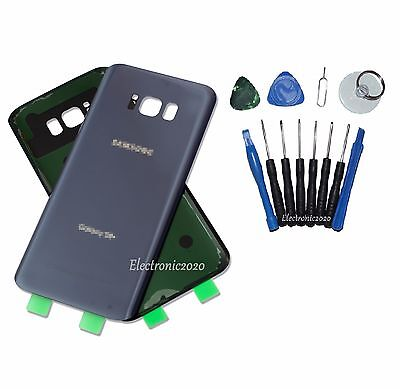 OEM Orchid Gray Glass Battery Back Door Cover For Samsung Galaxy S8 Plus G955 US