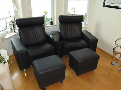 stressless sessel leder schwarz eur 350 00 picclick de. Black Bedroom Furniture Sets. Home Design Ideas