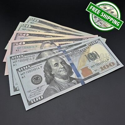 THE BEST PROP MONEY - $20 $50 $100 Bills - $340 - Play Money Prank Fake Money