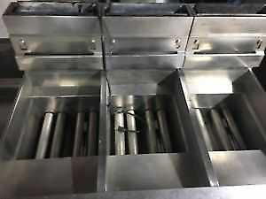 Pitco 3-Bay Natural Gas Fryer with Filtration-Baskets and Grates included!