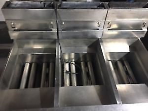 Pitco 3-Bay Natural Gas Fryer with Filtration