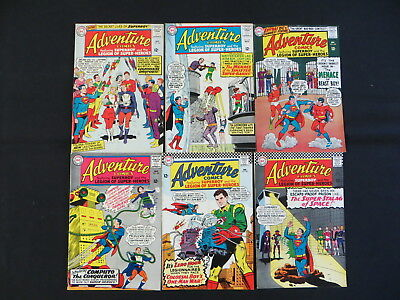 Adventure Comics 6 Issue Silver Age Comic Lot #337-341,344  Superboy