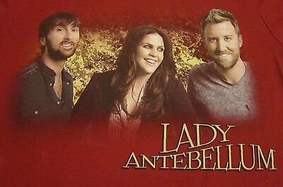 LADY ANTEBELLUM face photo concert tour shirt adult small 2-sided country cd lp
