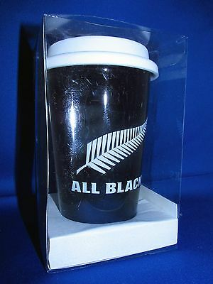 Rugby World Cup 2015 New Zealand All Blacks Ceramic Travel Mug with Silicone Lid