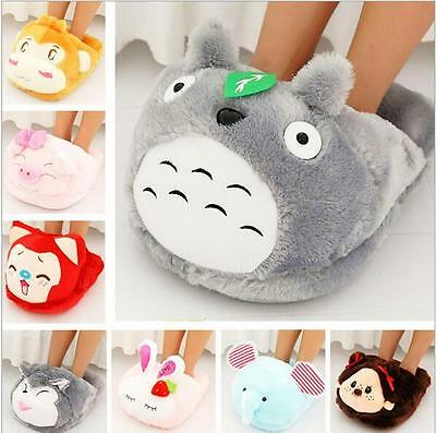 Cute Heated Pillows : Cute Animal Foot Warmer&Pillow Heater Slippers Plush Soft Toy Home Office Shoes ?10.68 PicClick UK