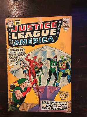 1961 JUSTICE LEAGUE 4 ~ Silver Age D.C. Issue ~ Fine 5.5-