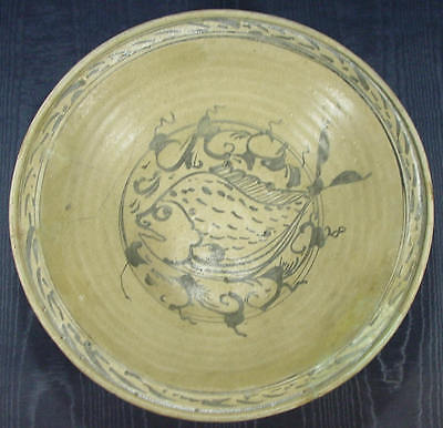 Large Sukhothai Celadon Plate Ceramics from ancient  Thailand about 1300AD