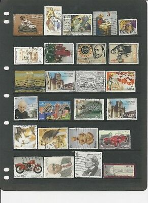 Malta- Collection Of Used Stamps  - #mlt31