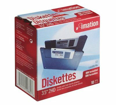 Imation - 3.5  DS-HD IBM Formatted - Black 10 Pack