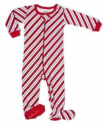 """Leveret Footed """"Candy Cane"""" Pajama 100% Cotton *Christmas* (4 Toddler)"""