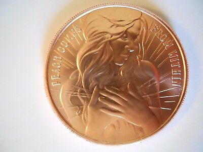 1 oz Copper Round 2017 Peace Comes From Within Silver Shield