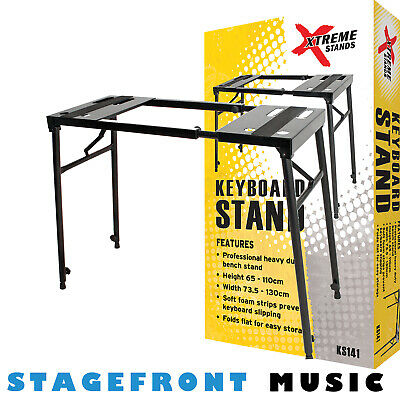 Keyboard / Piano / Dj Turntable & Mixer Stand Black Heavy Duty