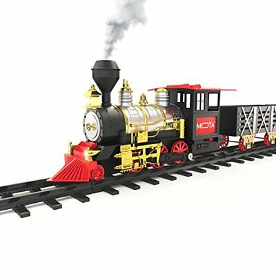 MOTA Classic Toy Train with Real Smoke Signature Lights and Sounds Full Set New